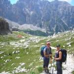 io, e Luca sopra il Rifugio Brentei