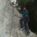 Alberto in arrampicata